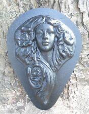 plaster concrete mold  fairy princess face plastic mould