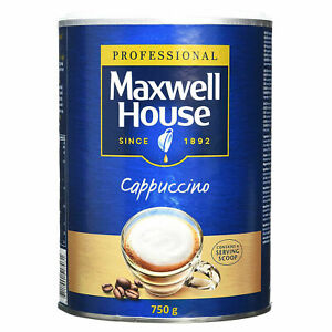Maxwell House Professional Cappuccino 750g Instant Coffee Tin with Serving Scoop
