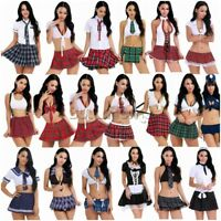 Halloween Women's Nurse Schoolgirl Student Uniform Costume Fancy Dress Party AU