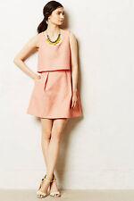 Mandarine Dress Peach Pink Cocktail By Erin Fetherston Anthropologie, Size 10