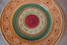 Pier 1 Imports Earthenware Hand Painted Etrusco Italy Dinner Plate  NEW