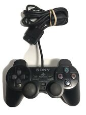 Official OEM Sony Playstation 1 PS2 DualShock Black Wired Controller SCPH-10010