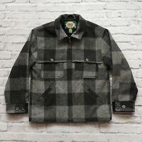 Cabela's Plaid Wool Mackinaw Jacket Size S Hunting