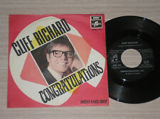 """CLIFF RICHARD - CONGRATULATIONS / HIGH AND DRY - 45 GIRI 7"""" ITALY"""