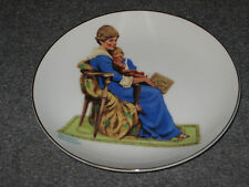 Norman Rockwell 1984 Porcelain 6 inch Collector's Plate in box Bedtime