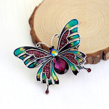 Women's Butterfly Rhinestone Crystal Diamante Brooch Pin GIFT Party