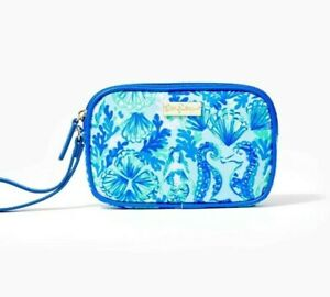 Lilly Pulitzer - Gillie - Phone Wristlet - Seeing Double- Sea Glass  - NWT