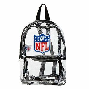 NFL Unisex Clear Backpack Mini Bag - Clear - New