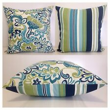 45x45cm Bryant Indoor/Outdoor Floral Bloomfield/Stripes Cushion Cover