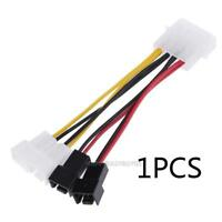 4-Pin Molex to 3-Pin fan Power Splitter Cable Adapter Connector 12v*2 /5v*2