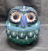 Erandi Mexican Pottery Owl Container Mexican Bird Tonala Colorful