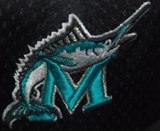 VINTAGE MIAMI MARLINS BASEBALL CAP HAT 99 02 NEW ERA 59FIFTY BLACK MESH 7 1/2 L