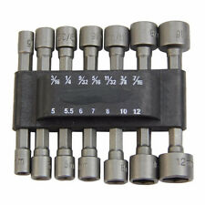 "14pcs 1/4""Hex Shank Power Nut Driver Bits Set SAE Metric Standard Powerful Tool"