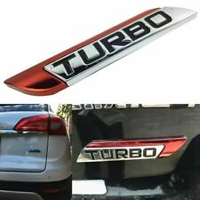 Auto Aluminum 3D Metal Turbo Logo Car Body Fender Emblem Badge Decal Sticker