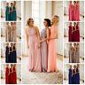 Long Chiffon Bridesmaid Dresses A Line Prom Ballgown Maxi Wedding Plus size