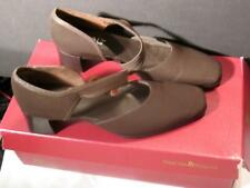 "Munro American Womens Brown Shoes Size 8.5 N Soft Stretch Strappy Suede 2"" Heel"