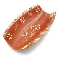 Traditional Portuguese Hand-painted Vintage Clay Terracotta Melon Serving Tray