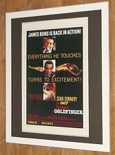 James Bond print, Goldfinger print -20x16'' frame, James Bond wall art
