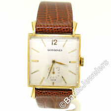 Men's Vintage 14k Gold Longines 25.6mm Fancy Lug Hand Winding Swiss Wrist Watch