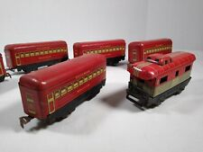 6-1930's Marx Train Passenger Cars Pullman 245 Montclair & 246 Bogota& NYC 20102