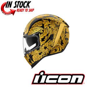 GT Motorrad Helm dunkel gold ICON PROSHIELD Sonnenblende Flugwerk /& Allianz