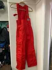 RARE Vintage Levi's 1984 USA Olympic Team Red Ski Bibs - Size 8