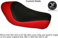 BLACK & RED VINYL CUSTOM FITS HARLEY SPORTSTER LOW IRON 883 SOLO SEAT COVER ONLY