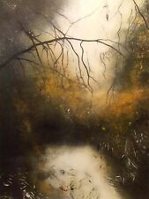 "NEW ISABELLE AMANTE ORIGINAL ""The Outsider"" FOREST IMPRESSIONIST PAINTING"