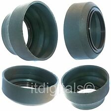 72mm Universal Rubber Lens Hood Screw-in 3 Stage T-W-N Double Threads metal Ring