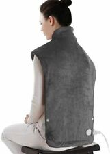 """Sable SA-BD031 Electric Heating Pad for Neck and Shoulders Dark Grey 25"""" x 32"""""""