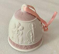 1996 Lladro Annual Porcelain Christmas Bell #16297 Children Singing Spain