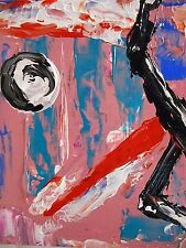 """""""do not mind it"""" Painting oil canvas wall Abstract brut signed MDmi original nai"""
