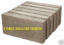 REGENCY PUMICE WOOD STOVE FIREBRICK  [PP1901]  WHOLE & UNCUT   902-111    6 PACK