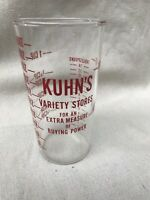 KUHN'S Variety Stores Vintage Measuring Glass, Very Rare!