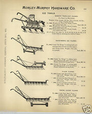 1908 PAPER AD 4 PG Ice Gathering Delivering Tools Plow Pond Saw Axe Hooks Chisel