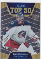 19/20 ALLURE...ELVIS MERZLIKINS...ROOKIE TOP 50...CARD # T50-44...BLUE JACKETS
