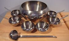 MERIDIONAL 18/10 Stainless Steel Berry Bowl Set Brazil Chrome Punch Bowl Set