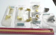 Liberty White & Gold ceramic drawer knobs pulls cabinet pulls, new