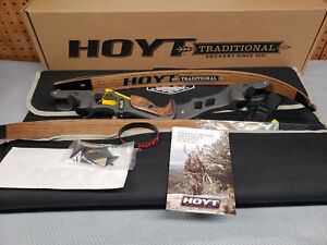 "Hoyt Satori Recurve 19"" Storm (New Color)Riser LH 55# Medium Wood Finish Limbs"