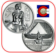 Cleopatra - 2 oz Silver BU UHR Coin/Round in capsule - Egyptian Gods Series
