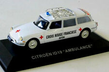 wonderful french modelcar CITROEN ID19 REDCROSS AMBULANCE AUTUN 1960 -  1/43