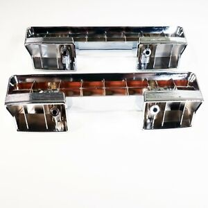 1961-1967 Buick Front Arm Rest Base | Chrome Plated Pair LeSabre Invicta Special