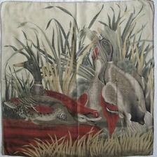 -Superbe Foulard LINEA  laine et  soie  TBEG  vintage scarf  76 x 78 cm