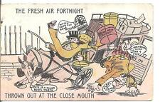 "LOVELY NOVELTY POSTCARD,UNKNOWN ARTIST,HORSE AND CART""FRESH AIR FORTNIGHT""1910"
