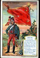 IMAGE CHROMO  / MILITAIRE & DRAPEAU / LOUIS XVI / Régiment des HUSSARDS BERCHENY