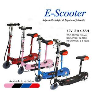 12V Electric E-Scooter Kids Foldab Battery Kids Ride On Scooter Adjustable Seat