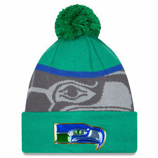 Seattle Seahawks New Era Gold Collection Vintage Cuffed Pom Knit Beanie Hat