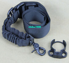 Hunting Single 1 One Point Bungee Sling +Clamp-On Slip Over castle nut Adapter