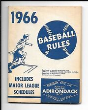 VINTAGE 1966 BASEBALL RULES BY ADIRONDACK   64 PAGE BOOKLET  VERY CLEAN