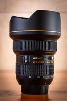 Nikon AF-S NIKKOR 14-24mm F/2.8G Ultra Wide Angle Lens- MInt +
